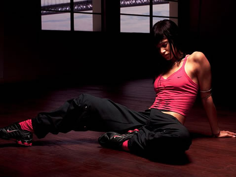 Sofia Boutella with Nike on